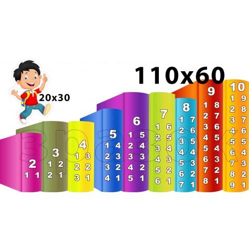 набір наліпок склад числа книги хлопчик для нуш 19
