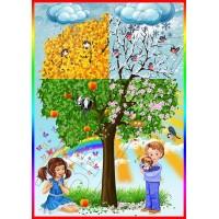 """Наліпка """"Дерево. Пори року"""" ОЗД 0049"""