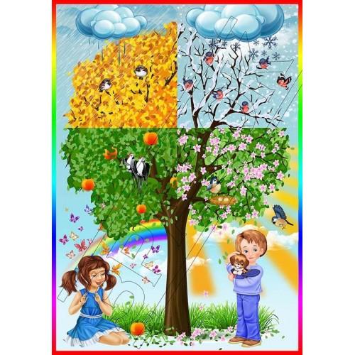 наліпка дерево пори року замовити 49