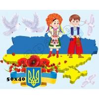 """Наліпки """"Набір 9. Україна з голубами"""" ОЗД 0009"""