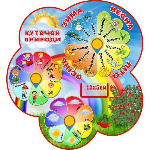 календар природи пластиковий садок калинка