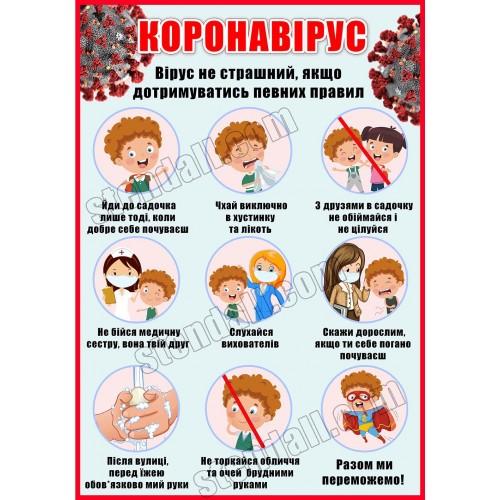 стенд коронавірус правила поведінки