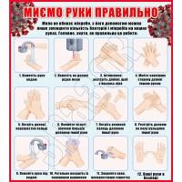 """Стенд """"Миємо руки правильно"""" КВ 0006"""