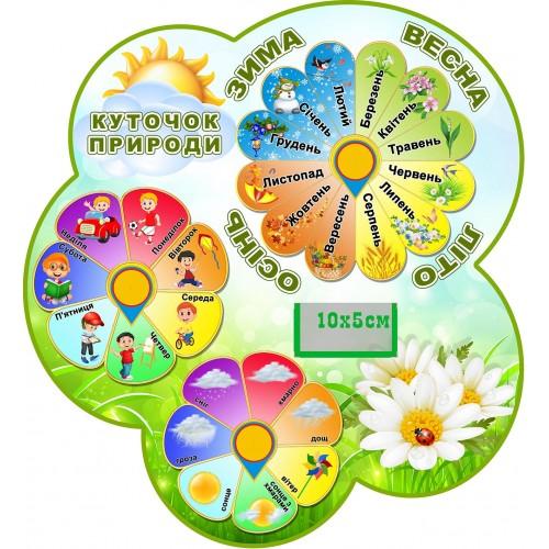 стенд календар природи в групу ромашка