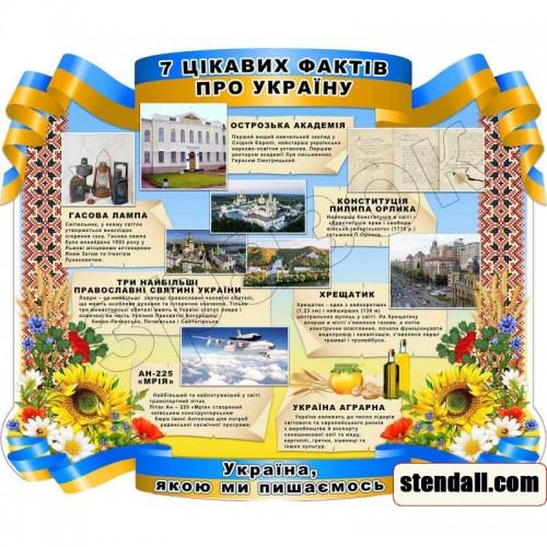 стенд пвх 7 цікавих фактів про Україну 109