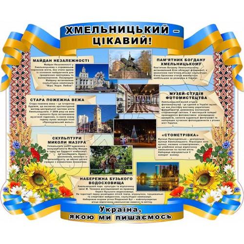 стенд цікавинки регіони україни пластик для школи замовити 114