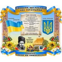 """Стенд """"Символи, що роблять нас українцями"""" СМ 0115"""
