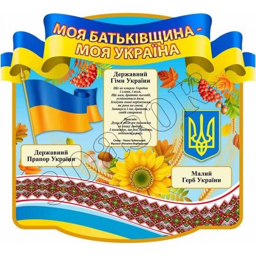 стенд символіка україни замовити для школи 120