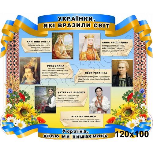 стенд пластиковий українки які вразили світ 92