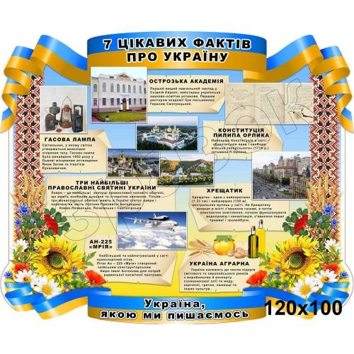 стенд пвх 7 цікавих фактів про Україну 93