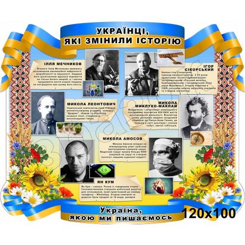 стенд пластиковий замовити українці символи 95