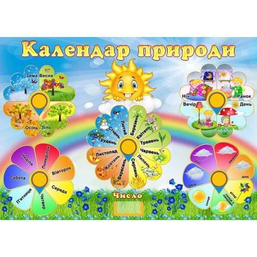 календар природи з пвх замовити в садок група дзвіночок 137