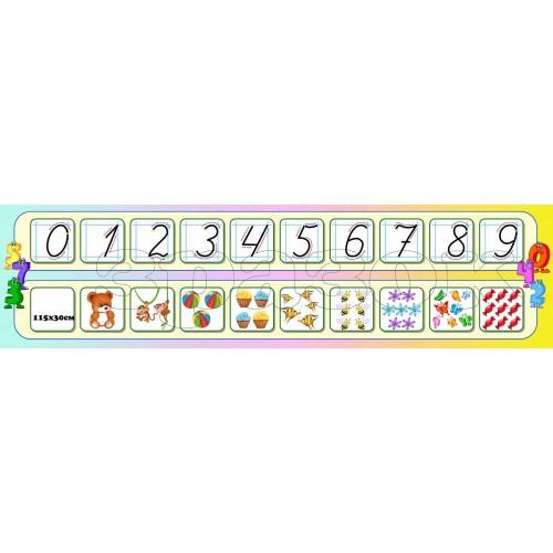 стенд для нуш правопис абетка числовий ряд 12