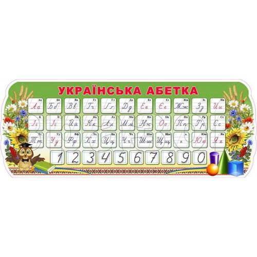 стенд для нуш правопис абетка числовий ряд 182