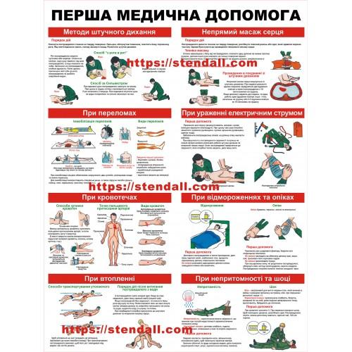стенд перша медична допомога ОБЖ 40