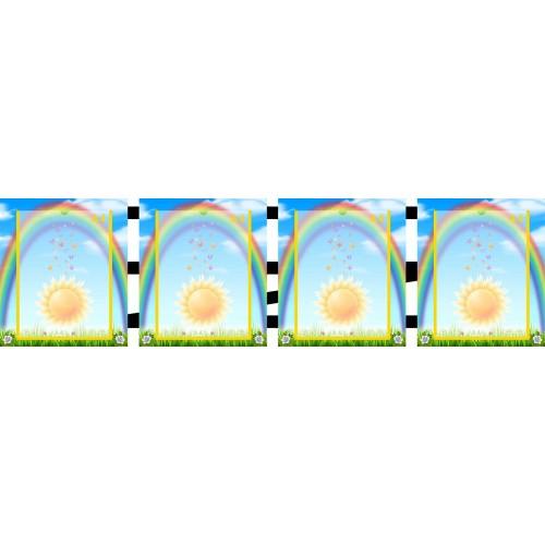 папка-ширма в садочек з веселкою та сонечком