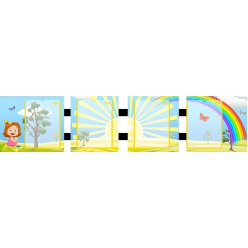 папка-ширма радуга 4 кармана