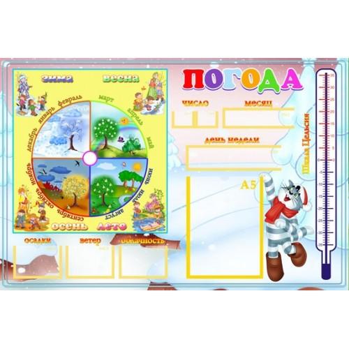 стенд для детского сада Календарь природы 1