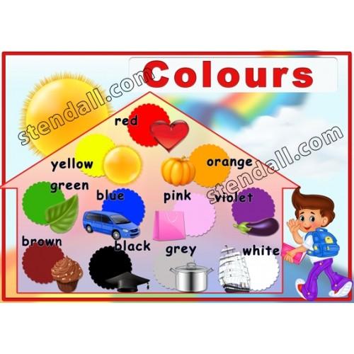Стенд Colours для вивчення англійської мови 10
