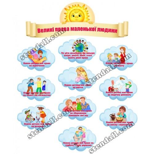 Права дитини композиція на стіну в садок 11