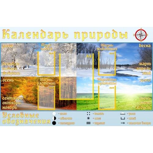 Стенд календарь природы для школы 12