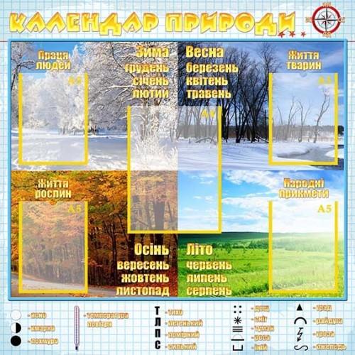 Стенд календар природи для початкової школи 13