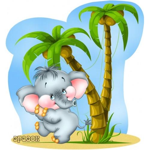 Магнитный стенд для детского сада слоненок 13