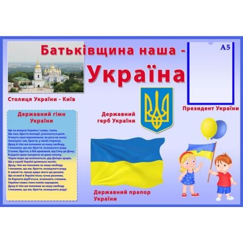 Стенд символіка України 14