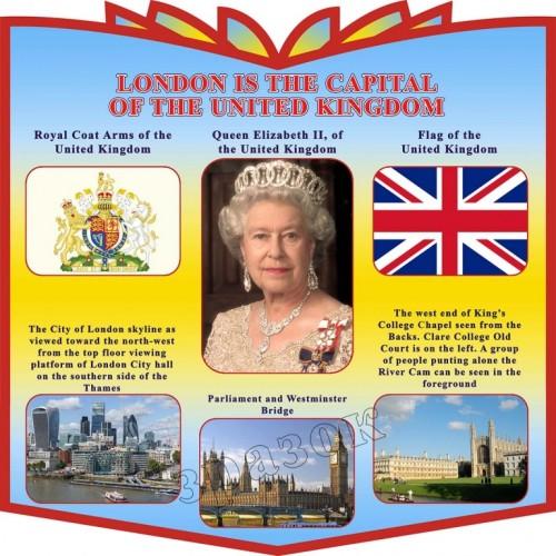 стенд в кабінет англійської мови London is the capital of the United Kingdom 16