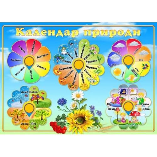 стенд пластиковий календар природи 18