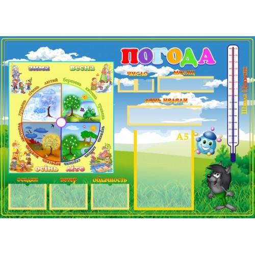 Стенды для детского сада Украина 24 Календарь погоды 24
