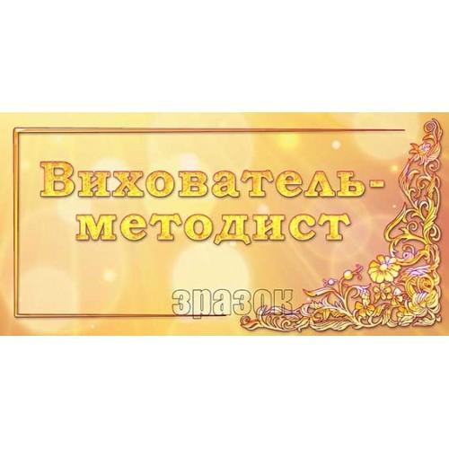 табличка вихователь-методист в ДНЗ купити 278