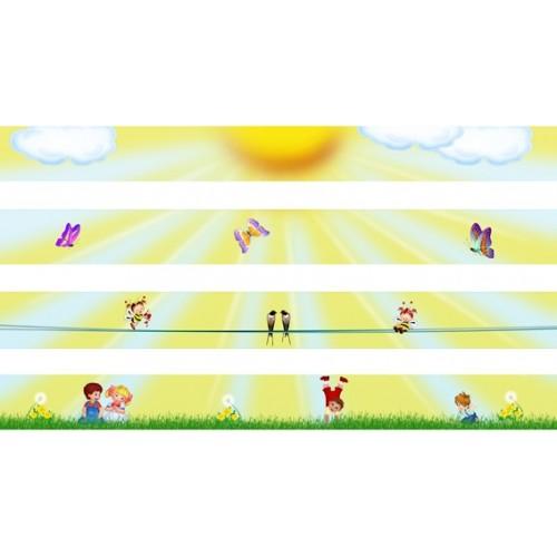 Стенды для детского сада набор полосок магнитных для рисунков 28