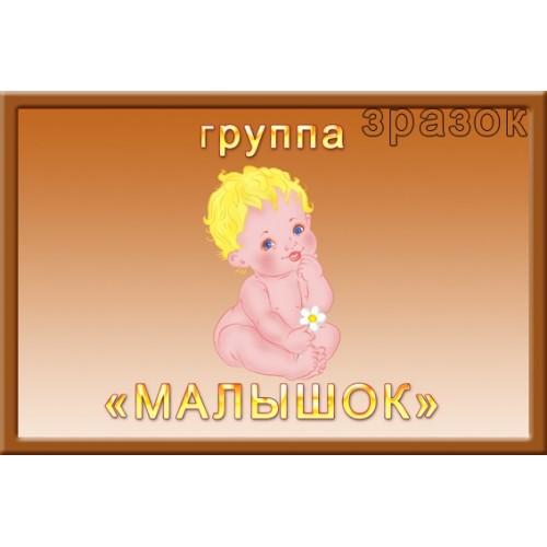 Табличка Малышок для садика 324