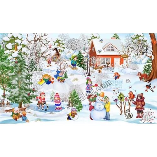 банер литий зимовий прикраса приміщення 34