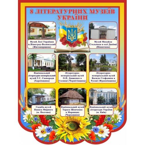 стенд музеї українських писменників україни 69