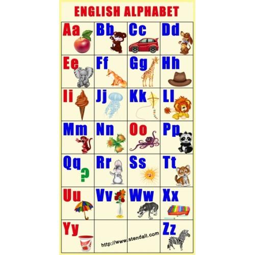 Стенд английский алфавит 6