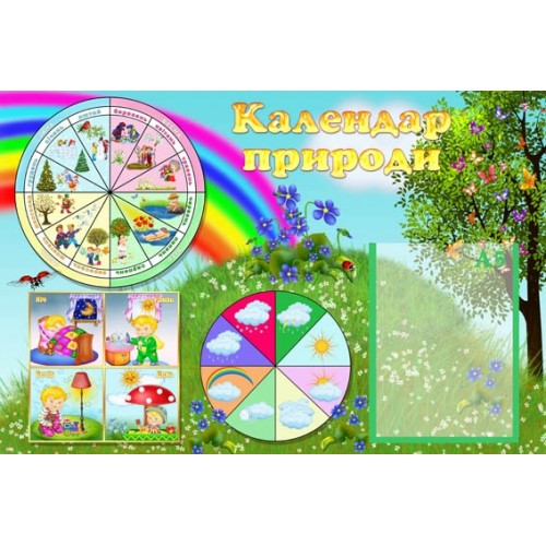 Календар природи стенд пластик фіалки 6