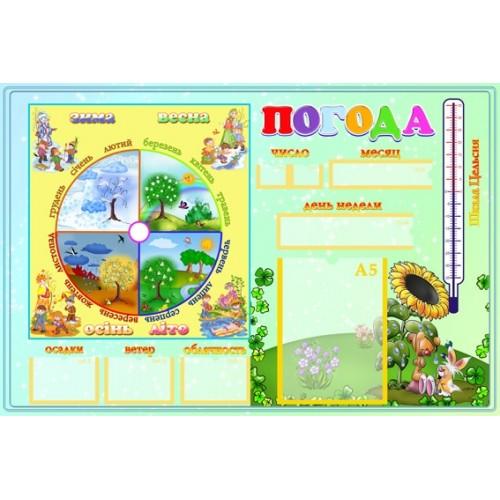 стенд для детского сада Календарь природы 7
