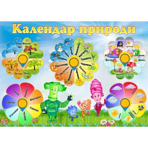 Стенд фіксіки календар природи нуш школа садок 72