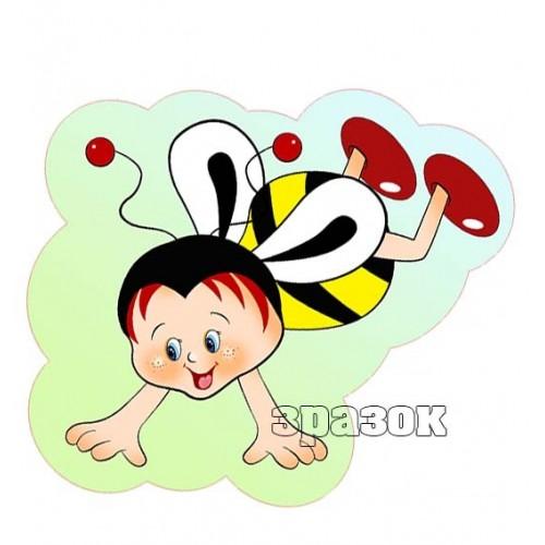 прикраса з пластику фігурна бджілка 76