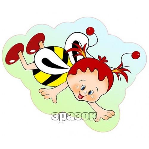 пластикова прикраса бджілка 77