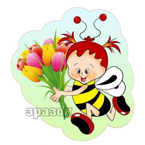 прикраса на стіну бджілка 78