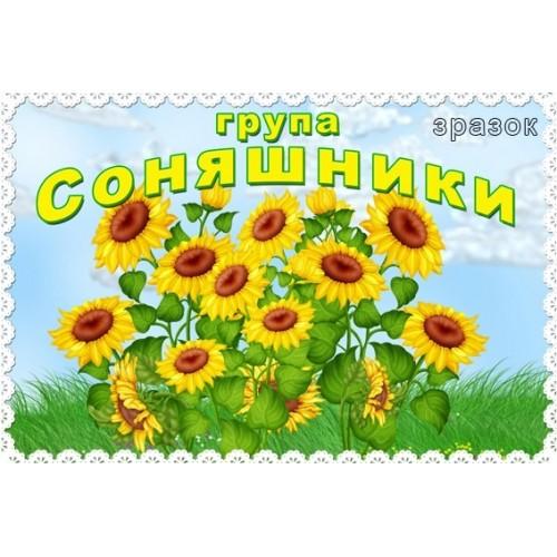 Табличка Соняшники в ДНЗ 8