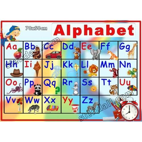 стенд Alphabet для початкової школи замовити 8