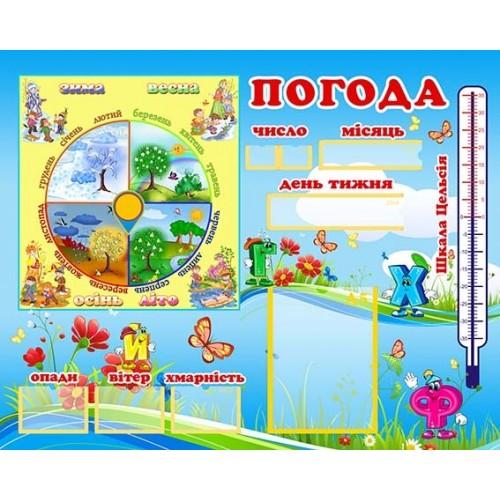 стенд погода для дітей логопедичної групи АБВГД купити 8