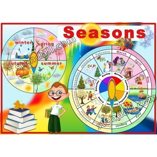 Стенд Seasons пластиковый информационный 9