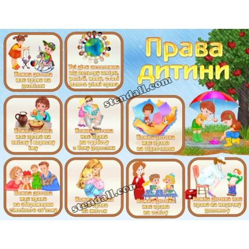 Права дитини в садок стенд пластик 9