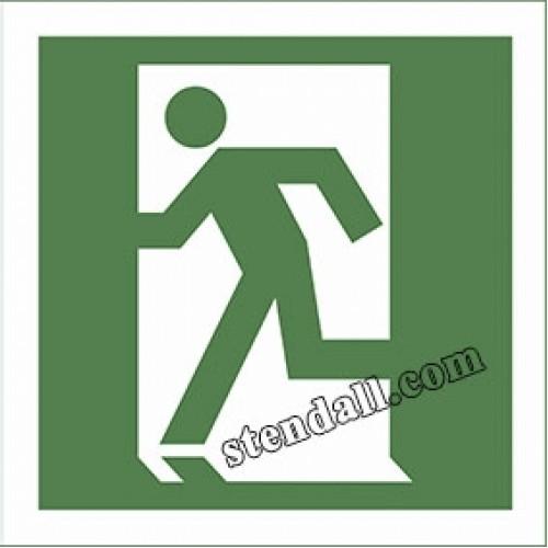 наліпка знак безпеки двері евакуаційного виходу 28