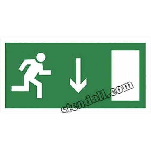 знак безпеки напрямок руху до евакуаційного виходу лівобічний 32